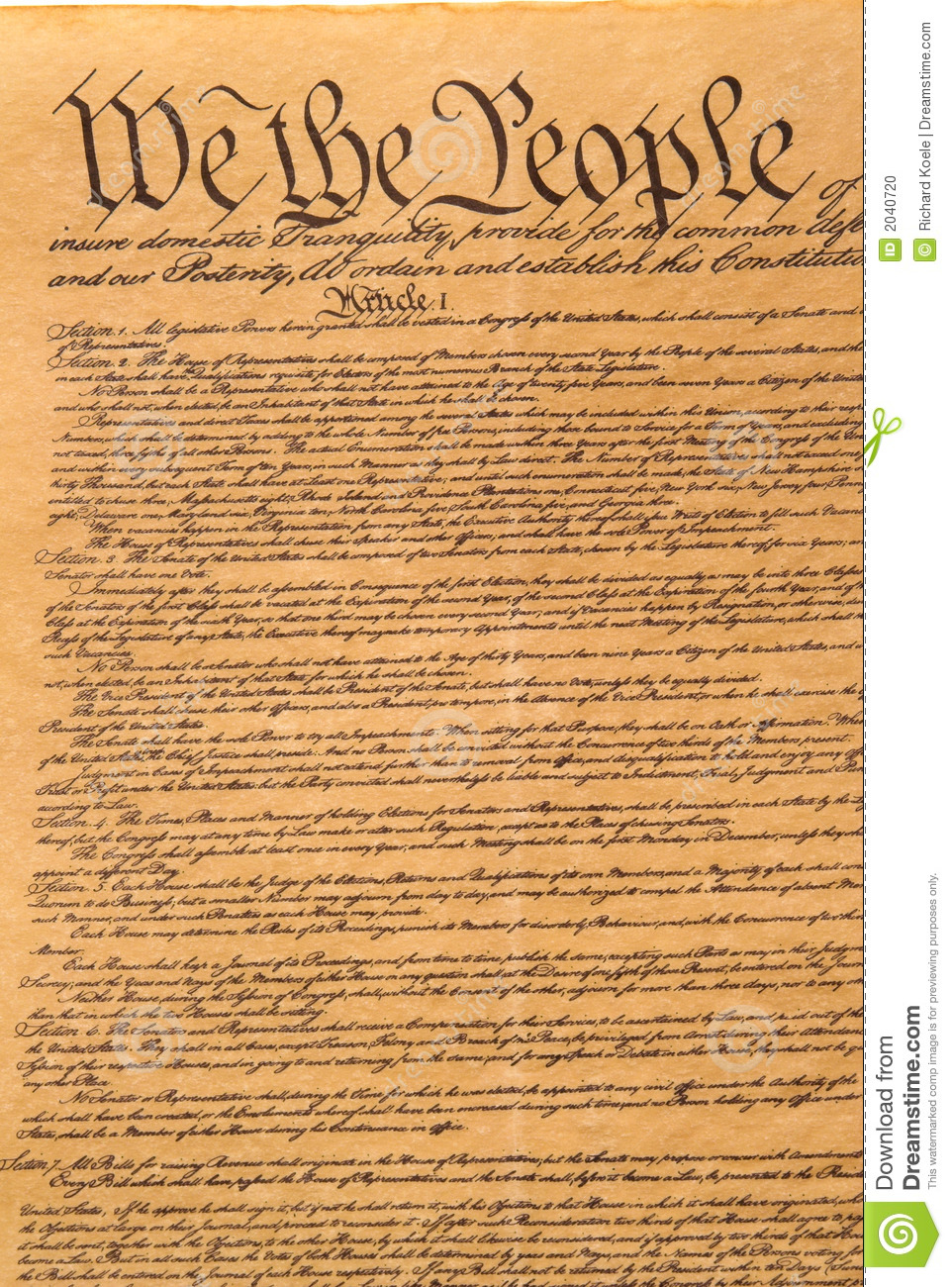 is the us constitution a legal document