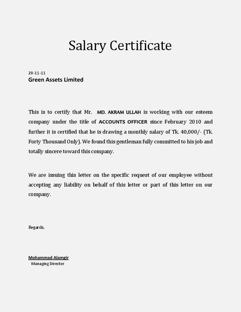 what is a salary history document