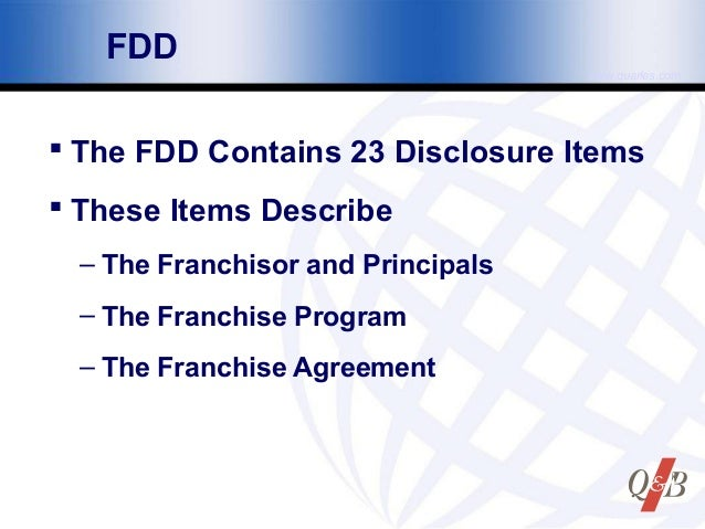 franchise disclosure document 23 items