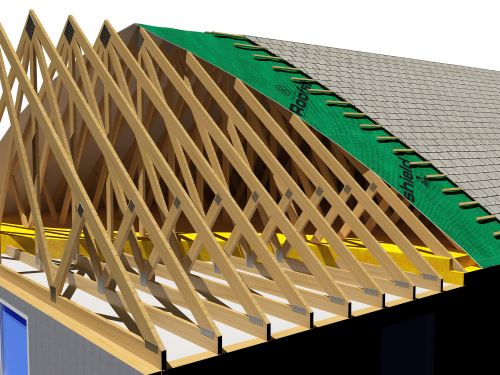 document control erect roof trusses