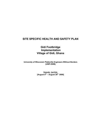 health and safety strategy document