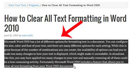 cant copy word document text