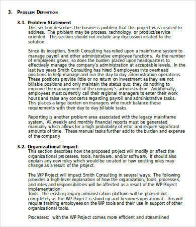 business case template for document management system