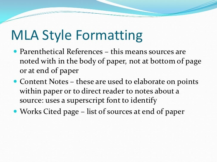 research paper documentation examples