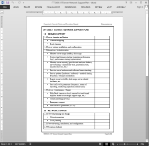 information technology policies for documentation