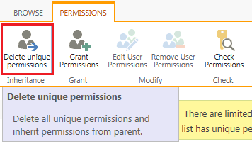 powershell csom remove unique permissions from document library