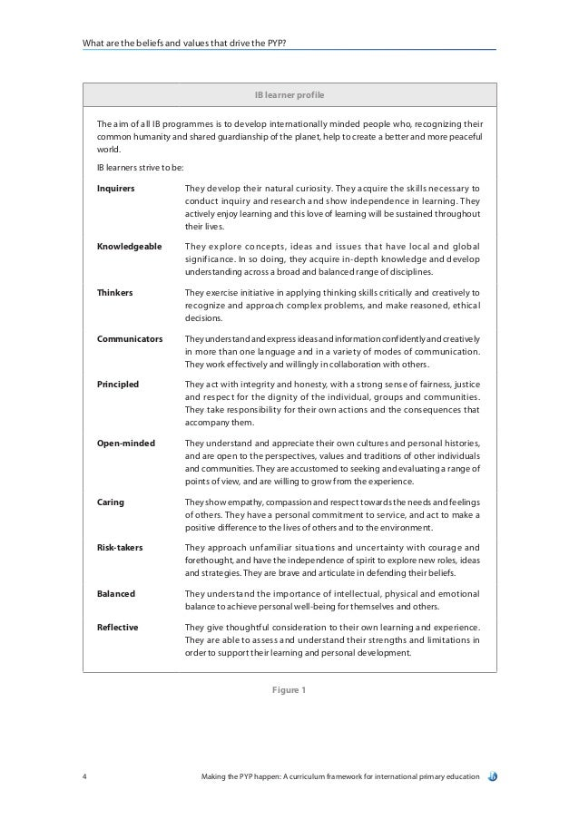 making the pyp happen document