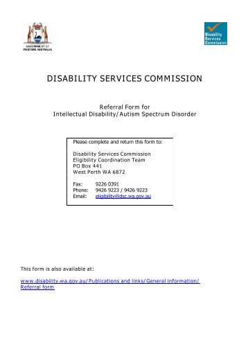 documentation procedure disability srvices