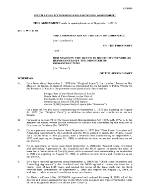 what document for lease extension