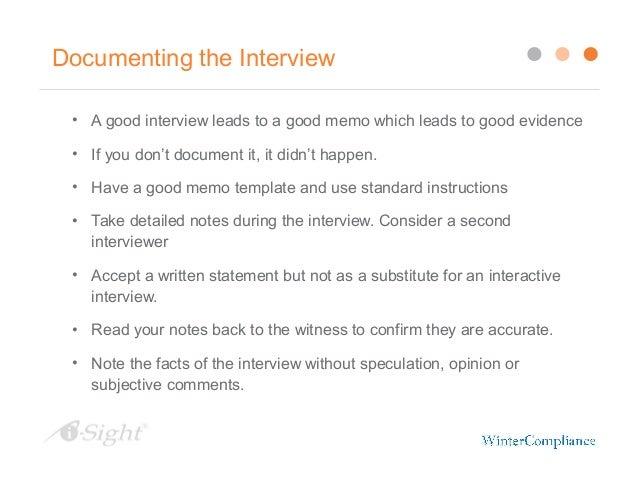 standard workplace documentation summary