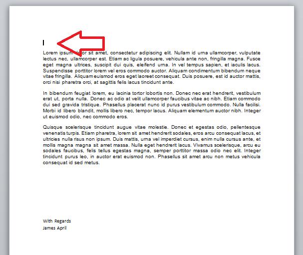 insert line in word document