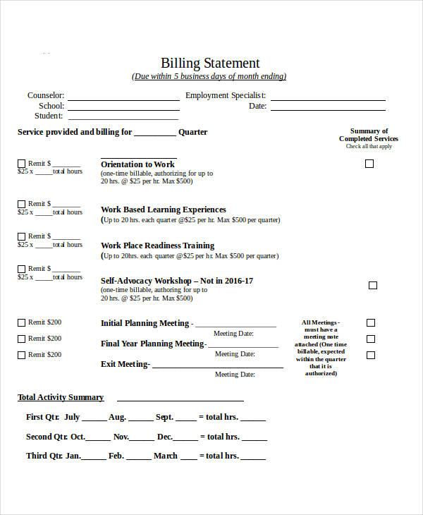 school billing system documentation pdf