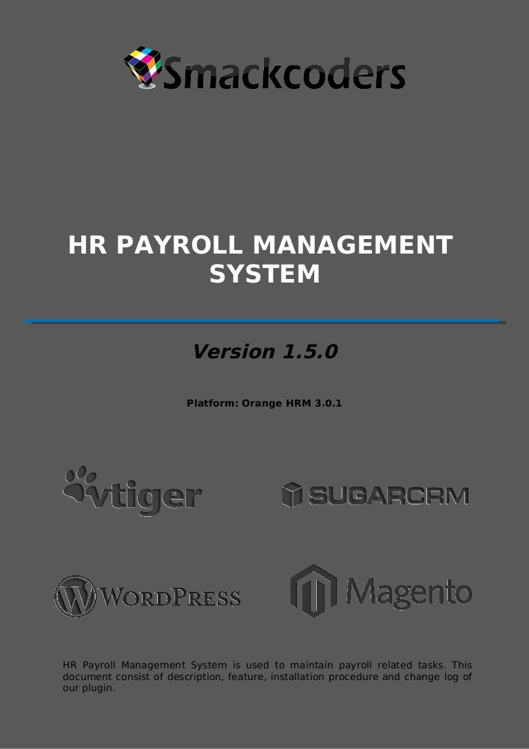 introduction of payroll system documentation