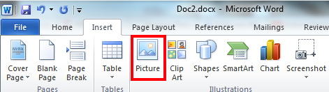 how to insert jpeg into word document