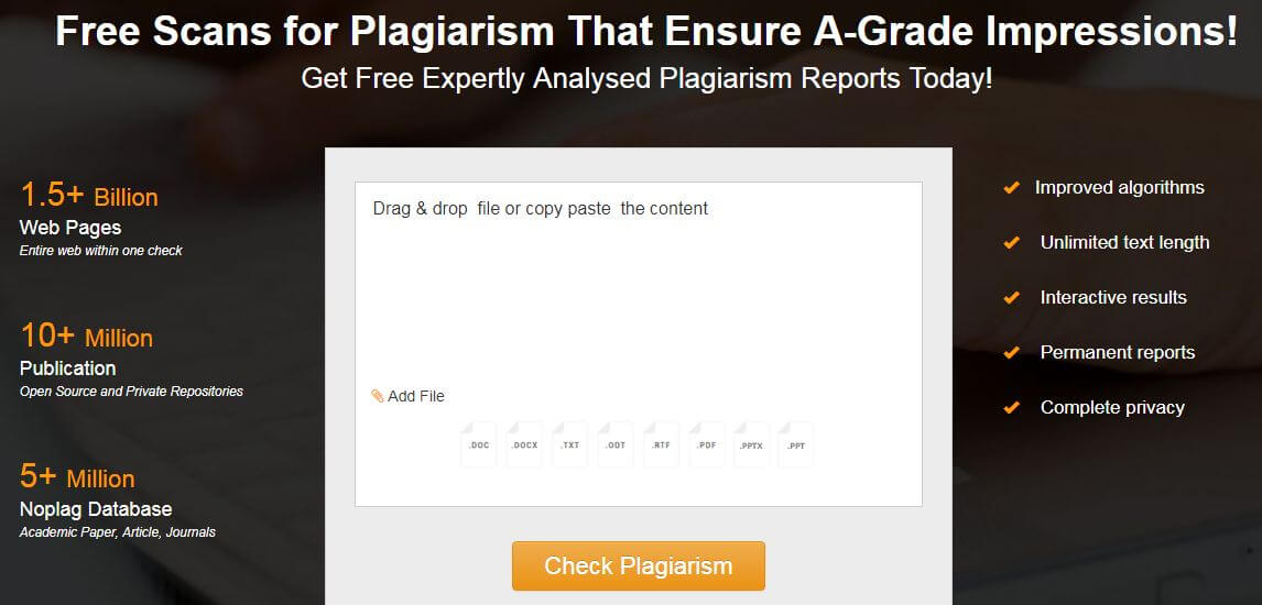 check document for plagiarism online
