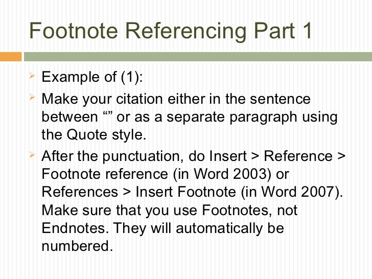 in this documentation style footnotes