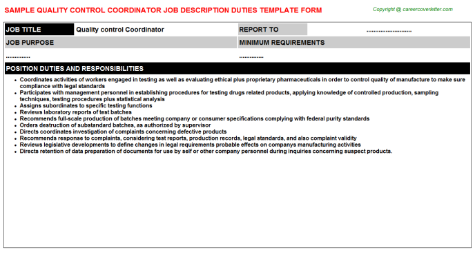 qc document controller job description