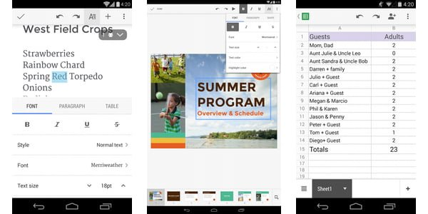 document viewer and editor for android