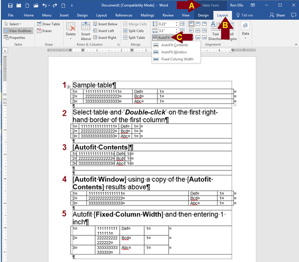 why does document in microsoft word 2016 jitter sideways