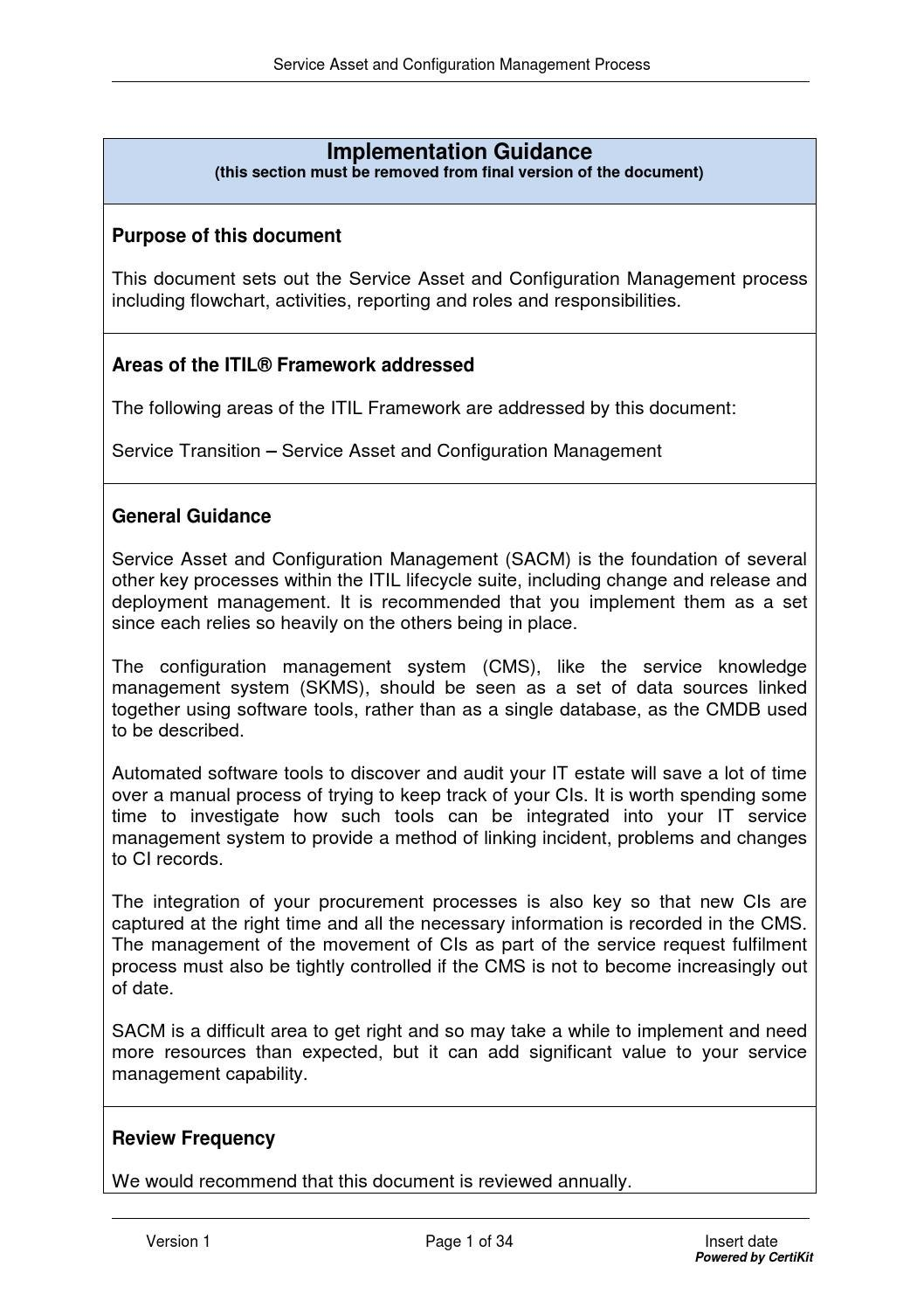 software asset management process document