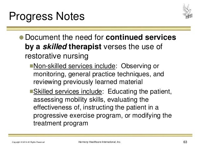 skilled nursing documentation examples