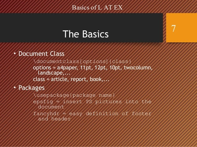 including keyword definitions at the start of a document latex