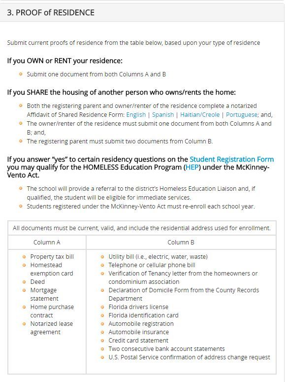 what is a residency document