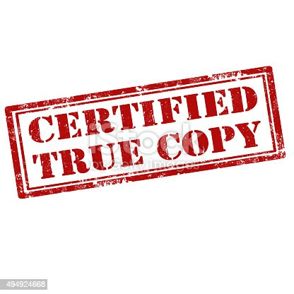 certified true copy of electronic document