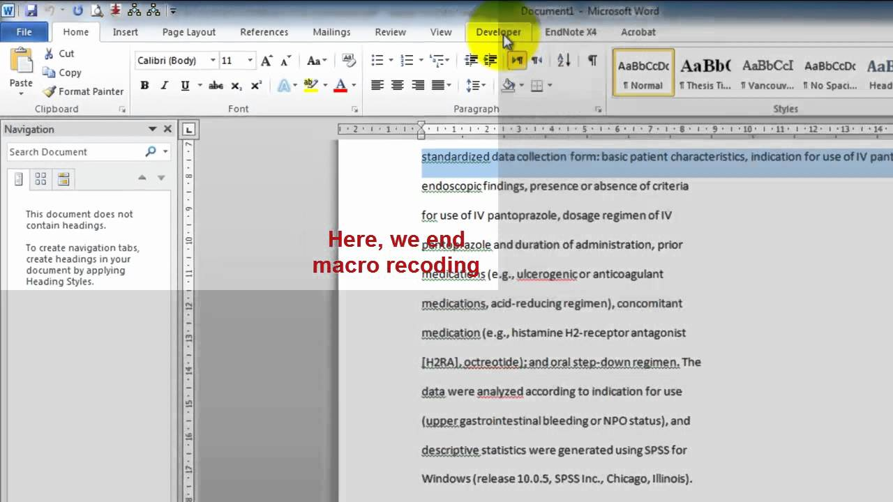 remove line break from word document