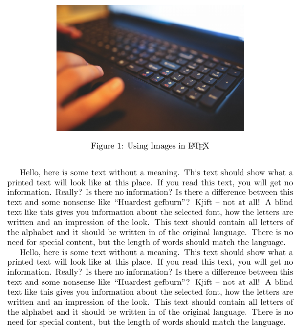 how to insert imagesa into latex document
