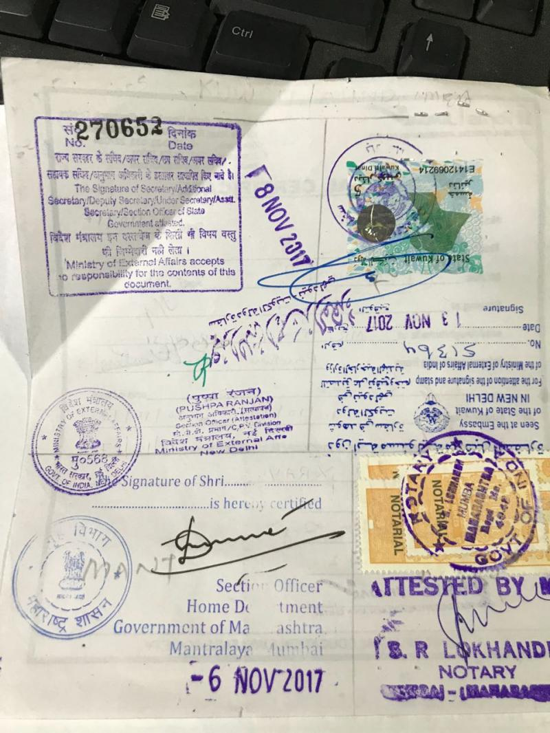 indian notary in melbourne document attest