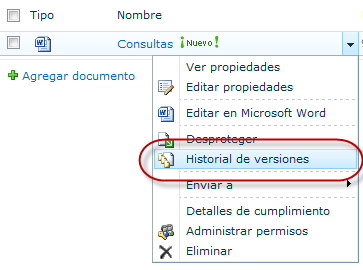 document version history sharepoint 2010