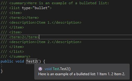 c# xml documentation example