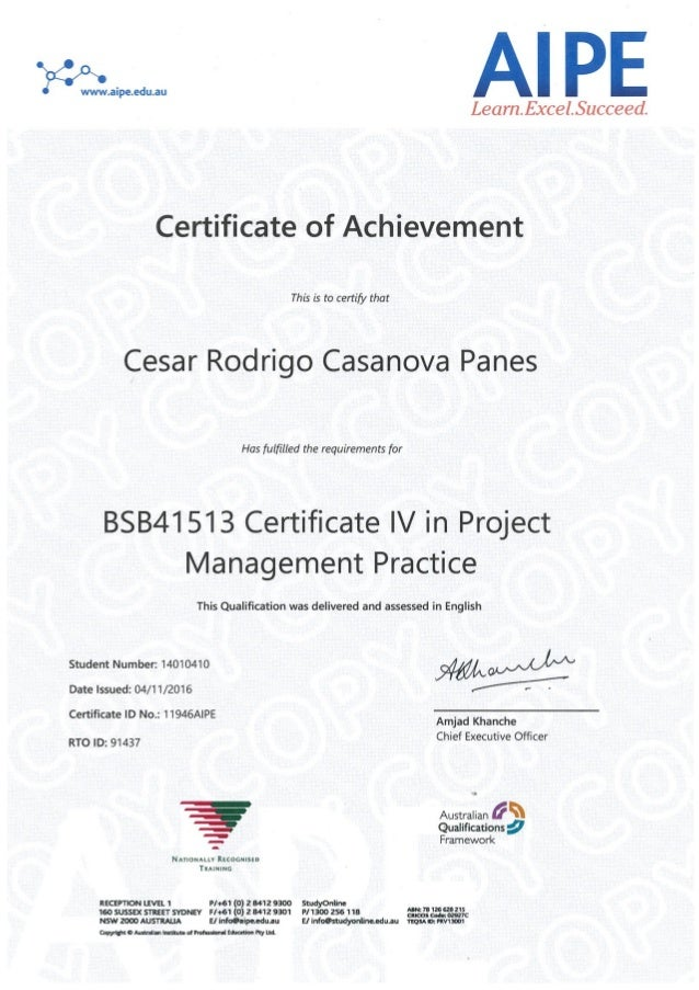 certificate iv in document control
