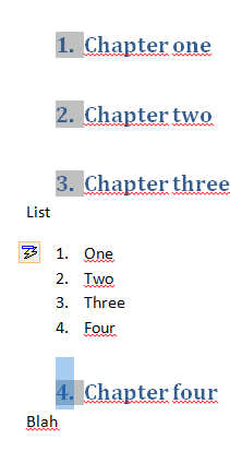 how to number a word document in sections