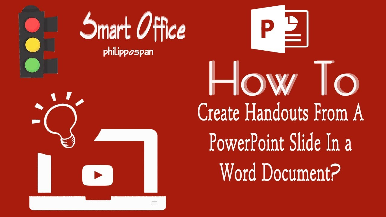 how to make a powerpoint into a word document