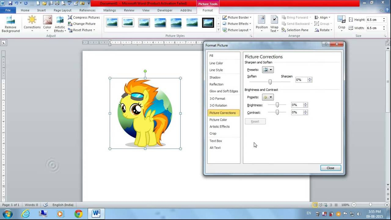 how to change word document to a photo