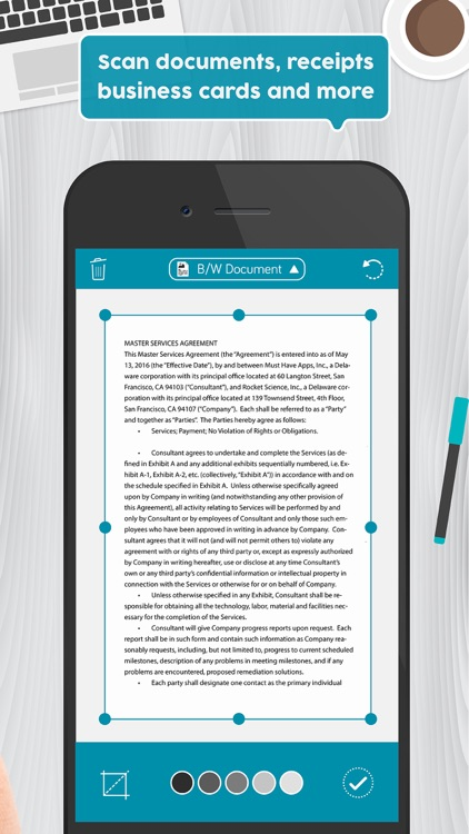 turn scan into pdf document