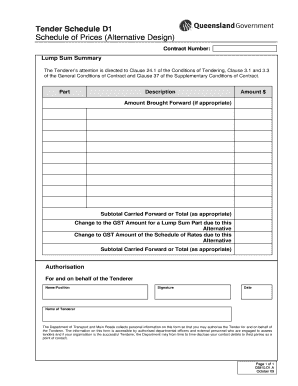 how to fill tender document