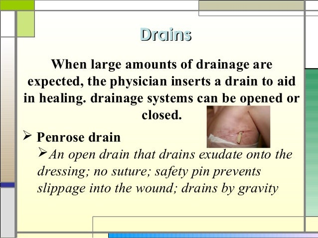 wound drainage assessment and documentation