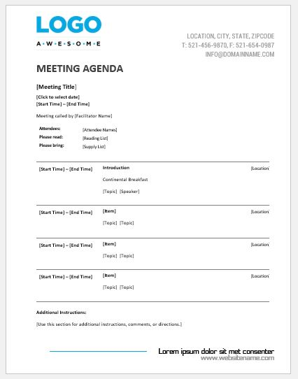 meeting minutes word document template
