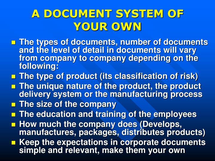 good documentation practices procedure