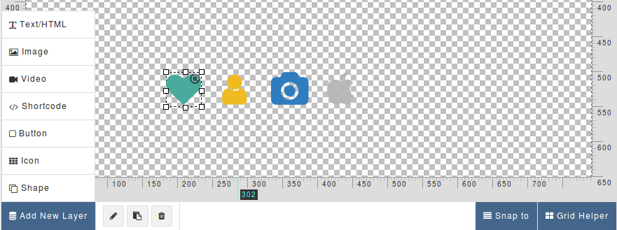 icon to end a document in word