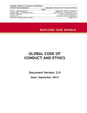 code of ethics documentation