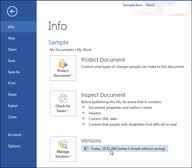 how to restore word document forgot to save