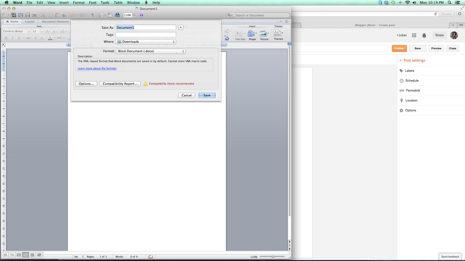 macbook save word document as a folder