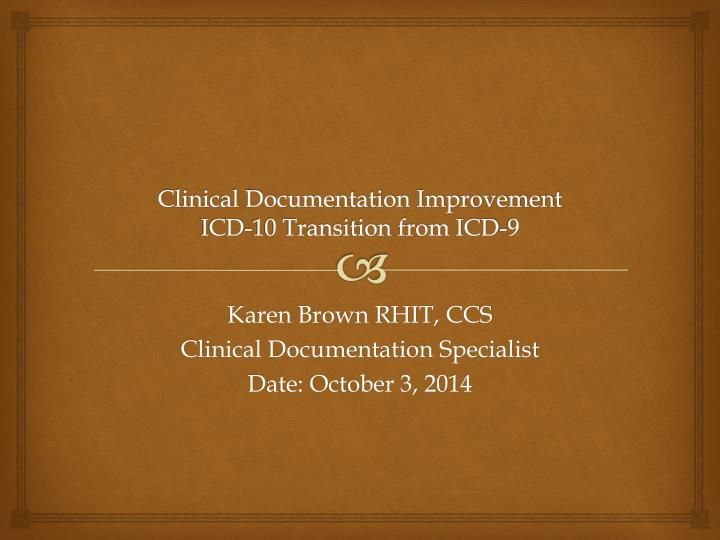 policy and procedure for clinical documentation improvement