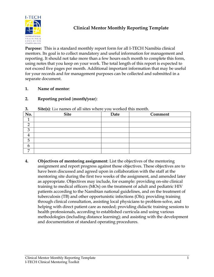 reporting and documentation procedures