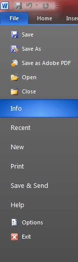unsaved word document recovery 2010