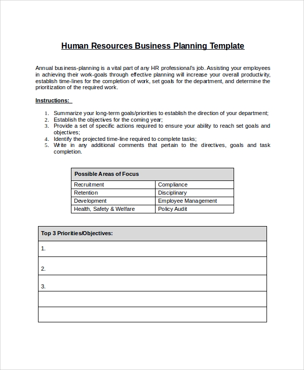hr employee documentation template